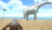 Huge dinosaur encounter on the beach
