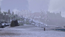 Snowy wasteland in Ark: Survival Evolved