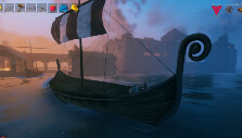 Viking longboat in Valheim