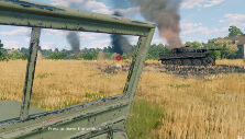 Riding a jeep and seeing a ruined Tiger in Enlisted