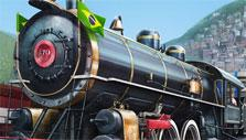 Steam Train in Train Station: The Game on Rails