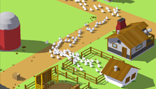 Sending chickens to the coops in Egg, Inc.