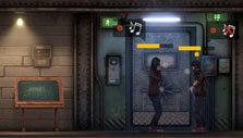 Characters arguing in Sheltered 2
