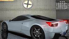 Sleek silver car in Highway Racer