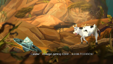 Moo Lander and cow