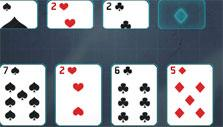 Solitaire Knockout: Foundation cards