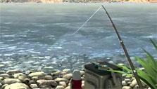 Lake fishing in Fishing Paradise 3D