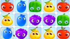 Colored fruits in Fruity Jam Adventures