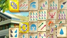 Golden tiles in Mahjong Mysteries: Ancient Athena