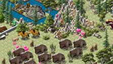 Tundra scenery in Zoo World 2