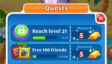 Quests and rewards in Scrubby Dubby Saga