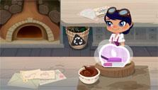 frosting a cake in Bakery Blitz