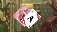 Solitaire Victorian Picnic: Card with ribbons