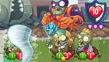 Playing a trick card in PvZ Heroes