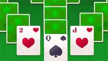 Green cardbacks in Tripeaks Solitaire
